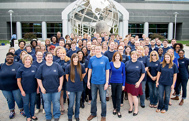 Allianz - Mike and the Allianz U.S. team at the office in Richmond, Virginia.