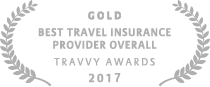 2017 Gold Travvy Award for Best Travel Insurance Provider Overall