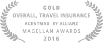 2016 Magellan Gold Award Best Overall, Travel Insurance for Agentmax by Allianz