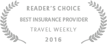 2016 Travel Weekly Reader's Choice for Best Insurance Provider