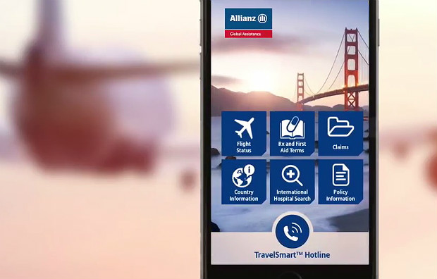 Allianz - Travelsmart app screen