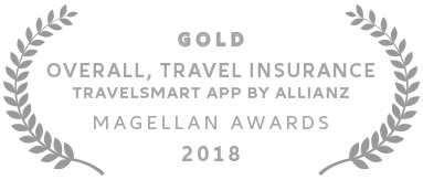 Allianz - 2018 Magellan Gold Award Best Overall, Travel Insurance for TravelSmart App