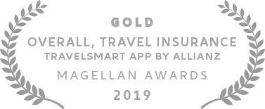 Allianz - Gold Magellan Award for Overall Travel Insurance, TravelSmart App 2019